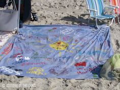 Beach Blanket Art....so fun to personalize. Great summer project! #diy