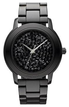 Black crystal DKNY watch