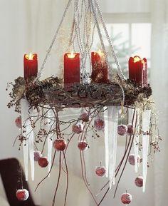 hanging! xmas decor, advent christma, design interiors, candles, christma decor, ceilings, advent wreaths, snowflak, the holiday