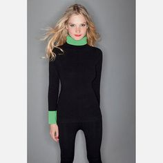 Colorblock Knit Black Green now featured on Fab.