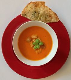 Tomato and Roasted Red Pepper  Bisque - Your kids will have NO CLUE that there are 5 different kinds of veggies swirled into this one delicious creamy soup!