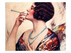 Women Cigarettes Holders Smoking, USA, 1920