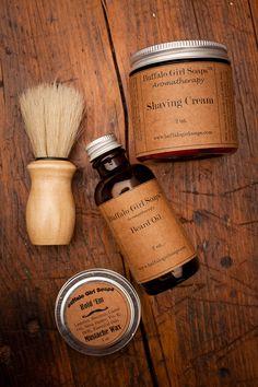 Makes a great gift   Mens Shaving Kit and Beard Taming by Buffalo Girl Soaps
