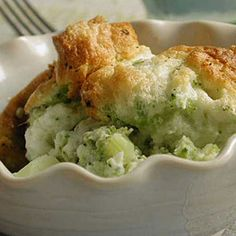 Easter Side Dishes | Lemon-Scented Broccoli Soufflé | CookingLight.com