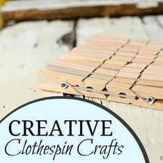 It's Overflowing: Creative and Practical Uses for Clothespin {Crafts & Decor} Creative and Practical Uses for Clothespins! #crafts #clothespin #diy #decor