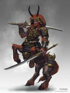 Centaur Warrior by fangwanglin