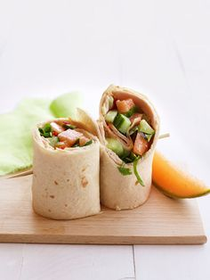 Get the recipe for Turkey and Cucumber Salad Wraps.