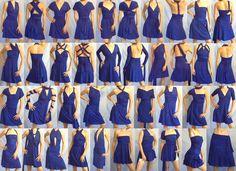 SHORT narrow A-LINE Free-Style Dress -- convertible dress, skirt, top. $95.00, via Etsy.