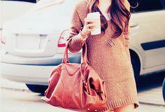 oversized bag & coffee