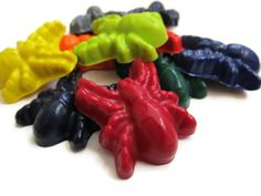 Spider Crayons set of 20  party favors by KagesKrayons on Etsy, $12.00