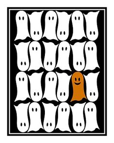 Free Halloween Ghost printable!