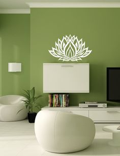 Vinyl Decal Lotus Flower Sticker Mural L23 by BestDecals on Etsy, $12.00