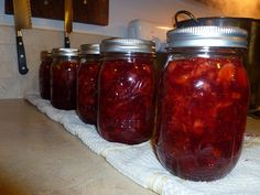 Strawberry Rhubarb Jam Recipe and Tutorial with jam making tips