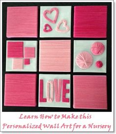 Learn How to make the wall Art Personalized DIY Wall Art for a  your baby's nursery #interiordesign