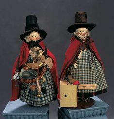 "Grodnertal Wooden Doll in Original Costume ""Toy Peddlers of Wales"""