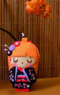 Geisha en fieltro.