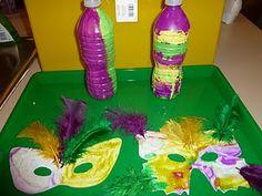 Easy Mardi Gras Shakers & Masks