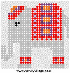 Indian elephant fuse bead pattern
