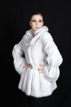 white mink coat by Mailon Furs, Kastoria, Greece