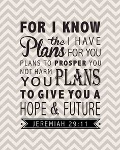 "Jeremiah 29:11 Bible Verse Inspirational Quote Wall Decor Sign 8""x10"". $20.00, via Etsy."