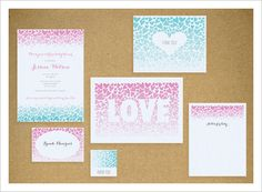 Ombré Heart Invite (Free Printable)