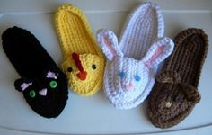 Animal Slippers Crochet Pattern
