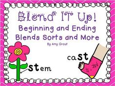 Blend It Up! Blends Sorts Activities and More