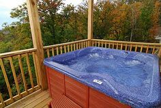 One of 2 hot tubs on decks