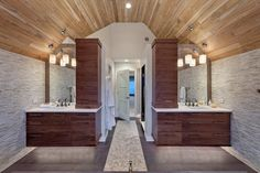 Like the his and her vanities layout in this attic bath suite.  Transitional Master Bath contemporary-bathroom