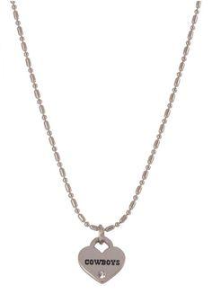 Dallas Cowboys Silver Chain Mini Love Heart Womens Necklace | Dallas Cowboys Womens Necklace http://www.rallyhouse.com/shop/dallas-cowboys-100886456 $12.99