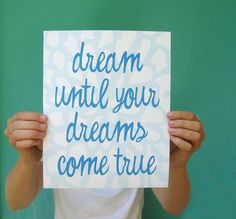 dream on. dream on. dream on.