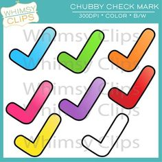 FREE check mark clip art from Whimsy Clips.