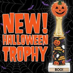 Halloween pumpkin trophies make the best  #Halloweenawards to give out at your next Halloween Party! Fun New Halloween Trophies @ https://www.crownawards.com/StoreFront/TRHAL00.ALL.Trophies.Happy_Halloween_Trophy.prod