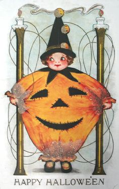 ☆ Halloween Pumpkin Costume Girl :¦: Shop: Traditions Year-Round Holiday Store ☆