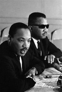 Dr. Martin Luther King, Jr. with  his brother, Alfred Daniel Williams King.