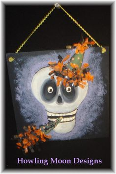 Party Time Skelly by HowlingMoonDesigns on Etsy, $26.00