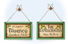 "Set Of Two Irish Sayings Wood Plaques.   Echoing the wit of the Irish, these entertaining homespun plaques are full of character. Imported. Frame 5 x 8 x 3/8"". $9.99"