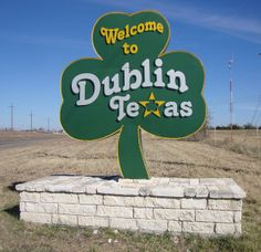 Dublin, Texas Sign. Former home of Dublin Dr Pepper and the Dr Pepper Museum