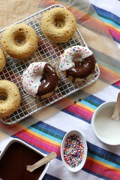 Black and White Brown Butter Baked Doughnuts
