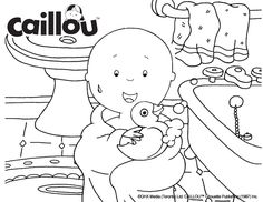 Caillou Coloring She
