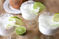 Coconut lime margaritas