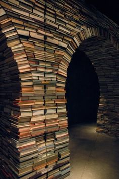 An arch way of books.
