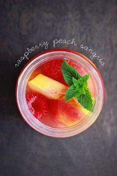 Raspberry Peach Sangria