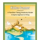 June/July Brain Teaser with Graphic Organizer for Writing  FREE