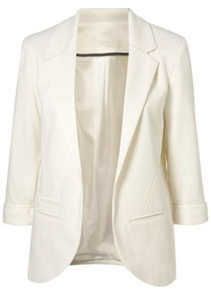 Pure White Blazer with Pockets