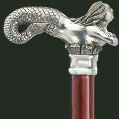 Mermaid - Pewter Canes : Ye Olde Cane Shoppe