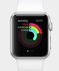 Apple's new smartwatch comes with an activity app to help you monitor your health.
