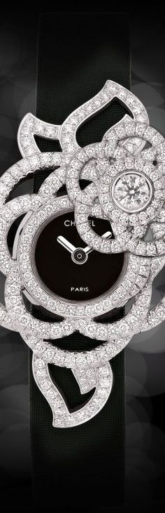 cool Watch in 18k white gold, opals, pink sapphires and diamonds JEWELRY WATCHES CHANEL