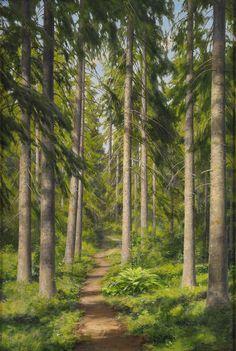 oil painting, Swedish landscape painters, Landscape painting, Swedish Artist Johan Krouthen
