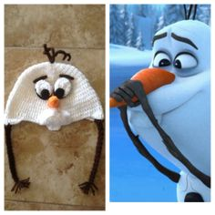 olaf crochet hat, hats crochet, crochet hats, frozen hat from, crochet frozen hats, crochet olaf hat